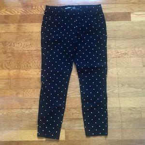 Old Navy black and white polka dot pixie pants 2P
